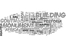 What To See In Pretoria Gauteng Word Cloud Stock Photography