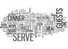 What To Serve As The Main Course For Your Dinner Party Word Cloud Stock Photos
