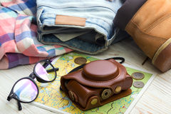 What to take for a trip Stock Photo