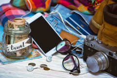 What to take for a trip Royalty Free Stock Photos
