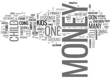 What To Tell Your Kids About Money The Essential Lessons Word Cloud Royalty Free Stock Image