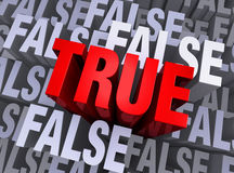 What Is True Rises Above What Is False Stock Images