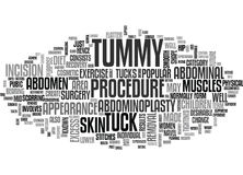 What Tummy Tucks Are About Word Cloud. WHAT TUMMY TUCKS ARE ABOUT TEXT WORD CLOUD CONCEPT Stock Photo