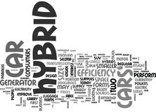 What Are The Two Different Forms Of Hybrid Cars Word Cloud Royalty Free Stock Photo