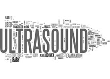 What Is An Ultrasound Word Cloud Royalty Free Stock Images