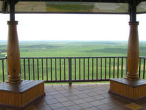 What a view!. Hill top lookout provides panoramic view Royalty Free Stock Photo