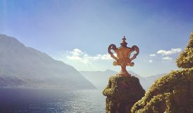 What a view. Lake Como from Balbianello Villa stock photo