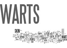 What Are Warts Word Cloud Royalty Free Stock Photos