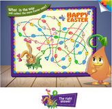What  is the way will collect the more Easter eggs Stock Image