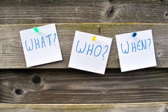 Free What, Who, When Questions Stock Image - 57783751