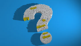 What When Why Questions. Important question keywords like Who, What, When, Where, Why and How forming the shape of a question mark stock illustration