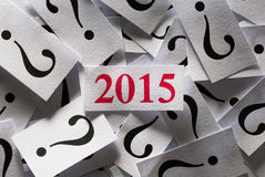 What will happen in 2015 Stock Photo