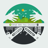 What will you choose concept. Vector illustration Royalty Free Stock Photography