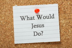 What Would Jesus Do? Stock Images