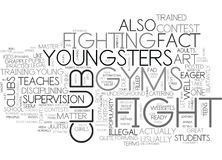What You Need To Know About Fight Club Gyms For Kids Word Cloud. WHAT YOU NEED TO KNOW ABOUT FIGHT CLUB GYMS FOR KIDS TEXT WORD CLOUD CONCEPT Stock Photography