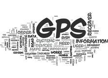 What You Need To Know About Gps Word Cloud Stock Photography