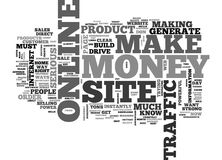 What You Need To Make Serious Money Online Word Cloud Royalty Free Stock Image