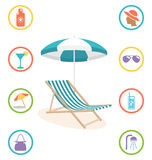 What You Need to Remember in Summertime. Information Brochure Royalty Free Stock Image