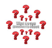 What are you passionate about question Royalty Free Stock Images