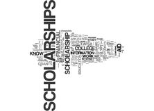 What You Should Know About Scholarshipsword Cloud Royalty Free Stock Image