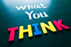 What you think concept Royalty Free Stock Photography