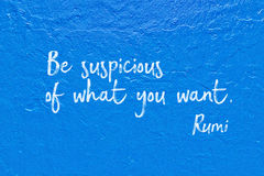 What you want Rumi Royalty Free Stock Image