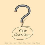 What is your answer by question mark Royalty Free Stock Photo