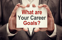 What are Your Career Goals Stock Photo