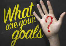What Are Your Goals on blackboard Royalty Free Stock Image