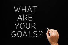 What Are Your Goals Blackboard royalty free stock images
