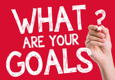 What are Your Goals written on wipe board Royalty Free Stock Photo
