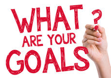 What are Your Goals written on wipe board Royalty Free Stock Images