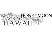 What Your Hawaii Honeymoon Package Should Include Word Cloud royalty free illustration