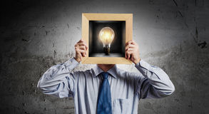 What is your idea. Mixed media Royalty Free Stock Photo