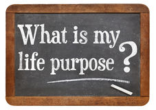 What is your life purpose question Stock Photography
