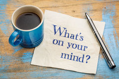 What is on your mind? Royalty Free Stock Photos
