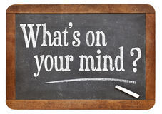 What is on your mind question Stock Photography