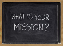 What is your mission? Stock Photo