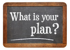 What is your plan? Stock Image
