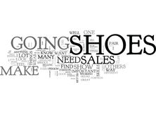What Your Shoes Say About Your Sales Skills Word Cloud Royalty Free Stock Photography