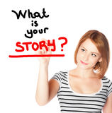 What is your story Stock Photo