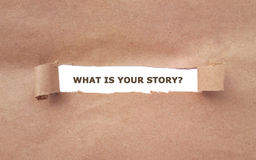 What is your story? Stock Photos