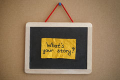 What is your story Royalty Free Stock Photography
