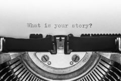 What is your story typed on a vintage typewriter Royalty Free Stock Images