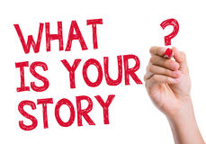 What is Your Story written on wipe board Stock Images