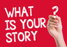 What is Your Story written on wipe board Royalty Free Stock Photos