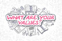 What Are Your Values - Business Concept. Stock Photo
