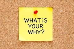 What Is Your Why Sticky Note Concept Royalty Free Stock Images