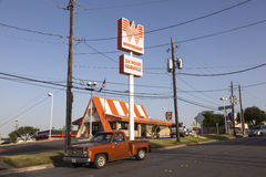 Whataburger Restaurant in Fort Worth, Texas Royalty Free Stock Photos