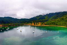 Whatamango Bay. Vicinity of Picton town, New Zealand Stock Photography
